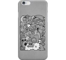 Doodleicious - Black and White iPhone Case/Skin