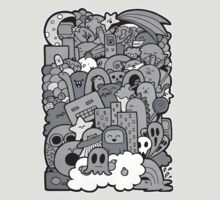 Doodleicious - Black and White T-Shirt