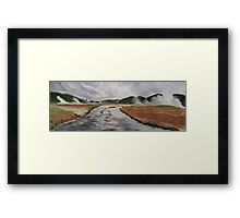 Yellowstone River, Yellowstone NP. Framed Print