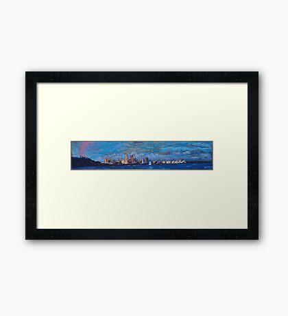 Perth Skyline 2011 Framed Print