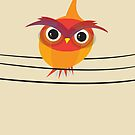 Owl on a Wire by volkandalyan