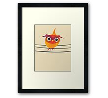 Owl on a Wire Framed Print