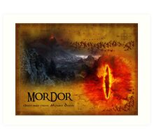 Greetings from Mount Doom Art Print