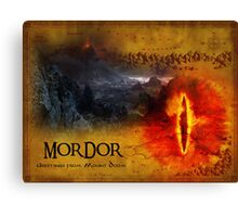 Greetings from Mount Doom Canvas Print