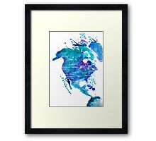 Watercolor Map of North America Framed Print