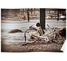 Helsinki - afterwinter bike around Kamppi Poster