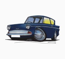 Ford Anglia 105e Dark Blue by Richard Yeomans