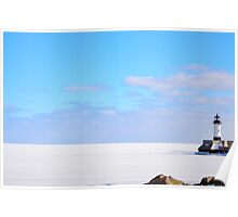 Frozen Lake Superior Poster