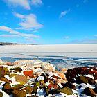 Frozen Lake Superior by markwestpfahl