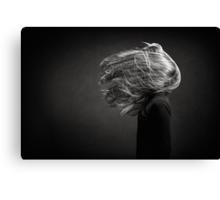 exploding hair Canvas Print