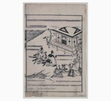 Scenes related to the Soga family   two warriors praying in front of a shrine while retainers hold their horses 001 Kids Tee