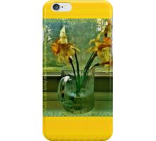 Daffodils In The Window Sill iPhone Case/Skin