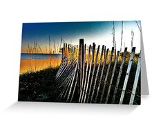 Beach Side, Stroll in The Sand Greeting Card