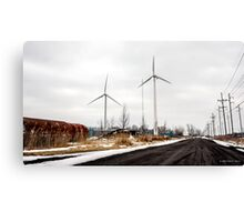 Standing Tall For Clean Energy Canvas Print