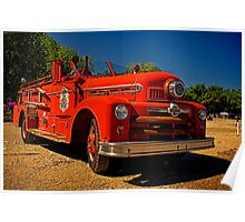 1954 Seagrave Fire Truck Poster