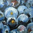Blueberries Fine Art Still Life Fruit In Acrylics by RedCoatStudio