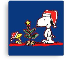 Snoopy and Woodstock Tree Canvas Print