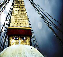 Buddha Stupa Blue by Dan Bronish