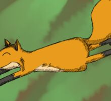 Leaping Fox Sticker