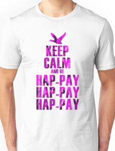 Keep Calm and be Happy Happy Happy (Pink Camo) Unisex T-Shirt
