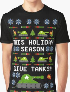 Ugly Christmas Sweater - This Holiday Season Give Tanks! Graphic T-Shirt
