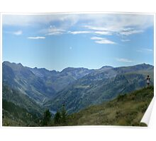 Dramatic Mountain Landscape Poster