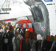 London Underground 'Going To Work Part 3' - Wall Art by RedCoatStudio
