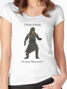 J'Zargo Is Ready for More Adventure! Women's Fitted Scoop T-Shirt
