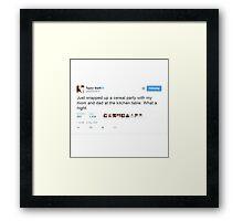 Taylor Swift Tweet Framed Print