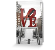 Red Love Park Sign Philadelphia Street Photography Greeting Card