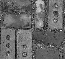 Black & White Brick  by Brittany Brassell