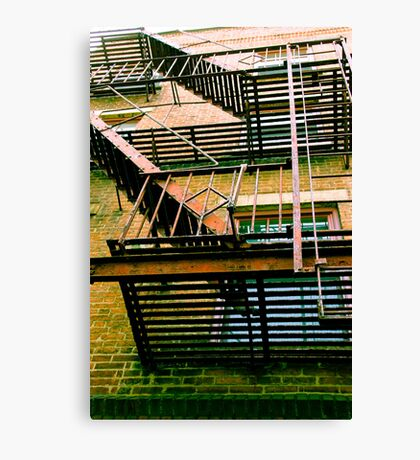 Fire Escape (looking up) Canvas Print