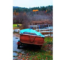 Red Boat Blue Waters Photographic Print