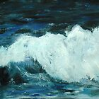Ocean Waves Part 1 - Fine Art Seascape Acrylic Painting by RedCoatStudio