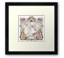 Romantic blessing bird Framed Print