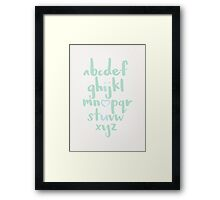 ABC Blue Framed Print