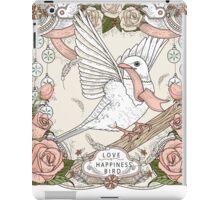 Romantic blessing bird iPad Case/Skin