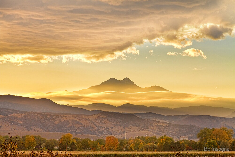 Longs Peak Autumn Sunset by Bo Insogna