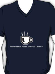 Programmer Needs Food Badly Dark T-Shirt