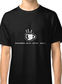 Programmer Needs Food Badly Dark Classic T-Shirt