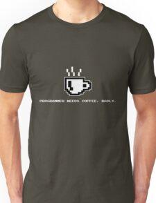 Programmer Needs Food Badly Dark Unisex T-Shirt