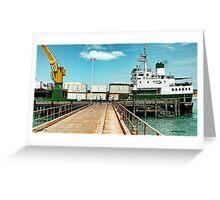 Merchant Vessel Trinity Bay Greeting Card