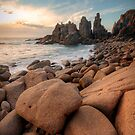 Granite Marbles - The Pinnacles, Phillip Island, Victoria, Australia by Sean Farrow