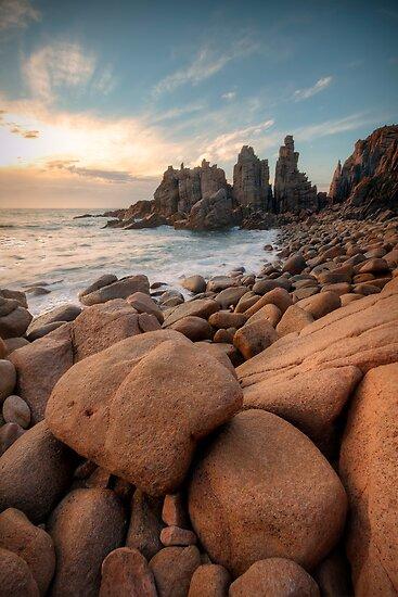 Granite Marbles - The Pinnacles, Phillip Island, Victoria, Australia by Sean Farrow