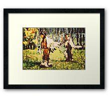 Two Little Indians Framed Print