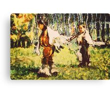 Two Little Indians Canvas Print