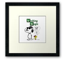 Peanuts Breaking Beagle Framed Print