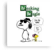 Peanuts Breaking Beagle Canvas Print