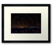 Falling Stars Framed Print