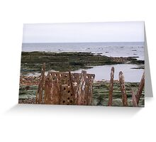 Rusting remains Greeting Card